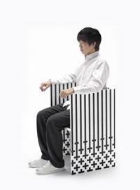 כיסא מתוך קולקציית מבנים גלויים