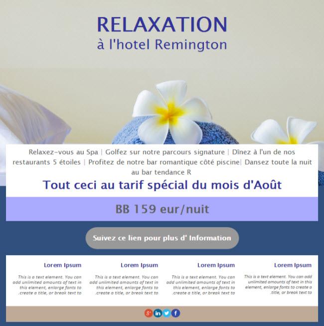 landing page spa et vacances