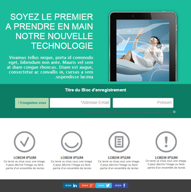 landing page technologie