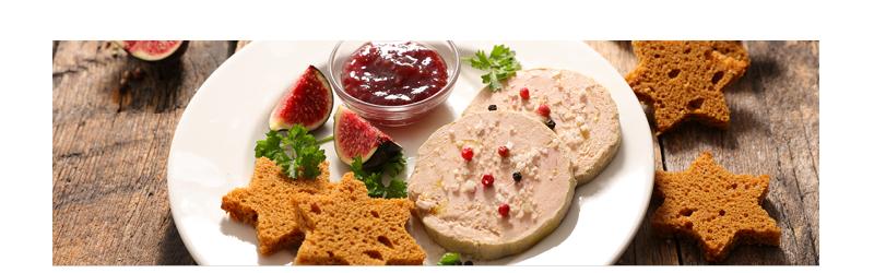 Foie gras et crustacés