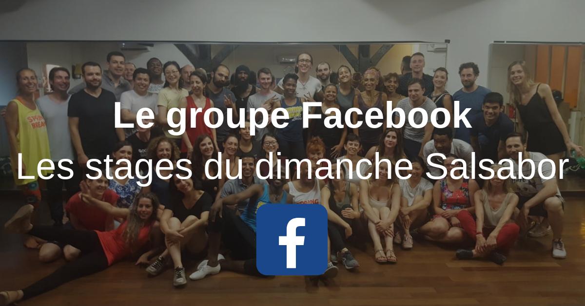 Groupe facebook les stages du dimanche salsabor