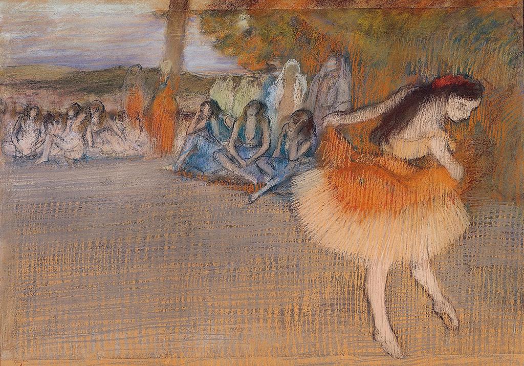 Edgar Degas, Ballet Scene, ca. 1887-90