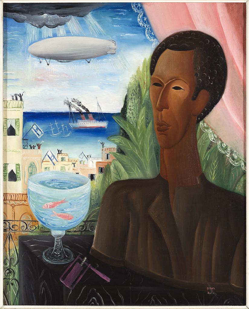 ראובן רובין, הצפלין מעל תל אביב, 1929