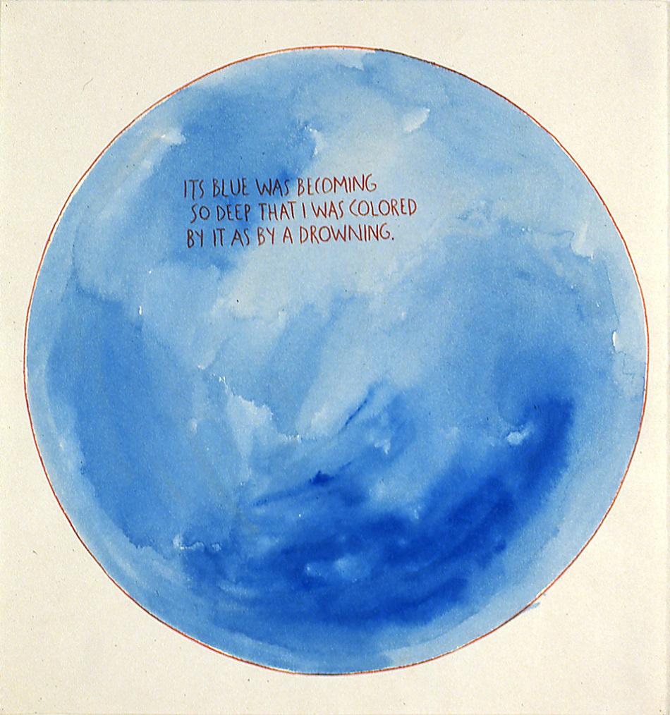 ריימונד פטיבון, ללא כותרת (הכחול של זה היה....), 1990