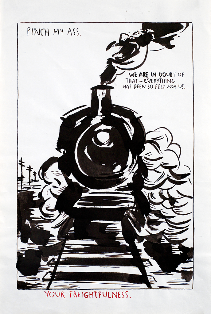 ריימונד פטיבון, ללא כותרת (צבוט לי בתחת...), 1991