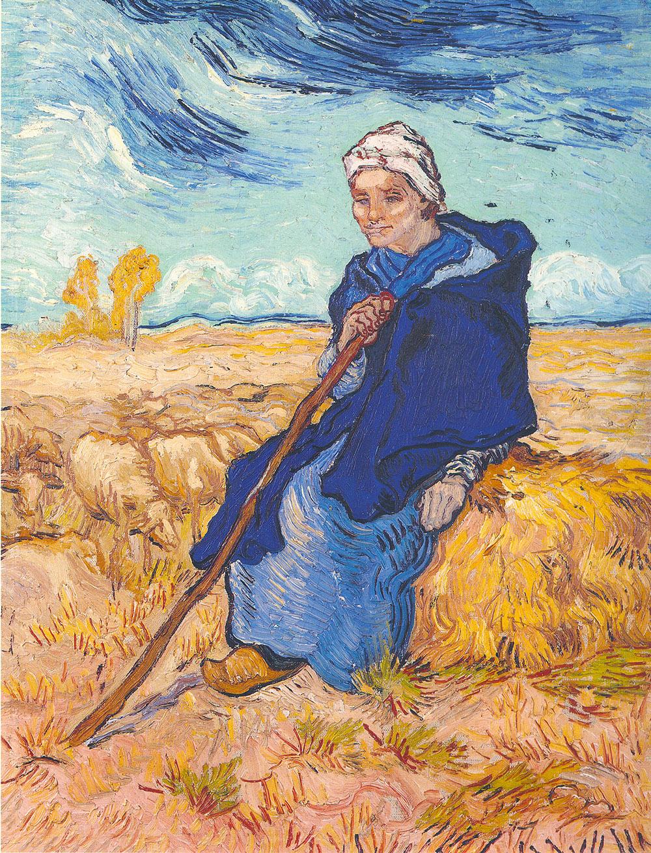 וינסנט ואן גוך, הרועה (על־פי מייה), 1889