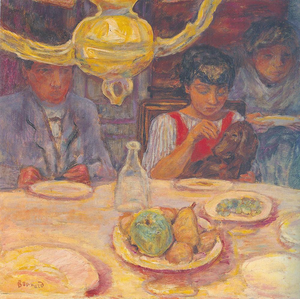 פייר בונאר, המנורה או ארוחת הערב או חדר האוכל, 1913