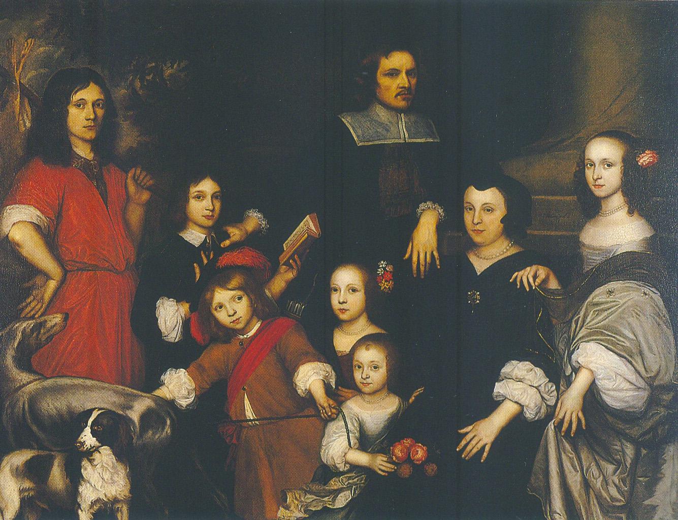 הנדריק נורדוויל, דיוקן משפחה עם שישה ילדים, 1656