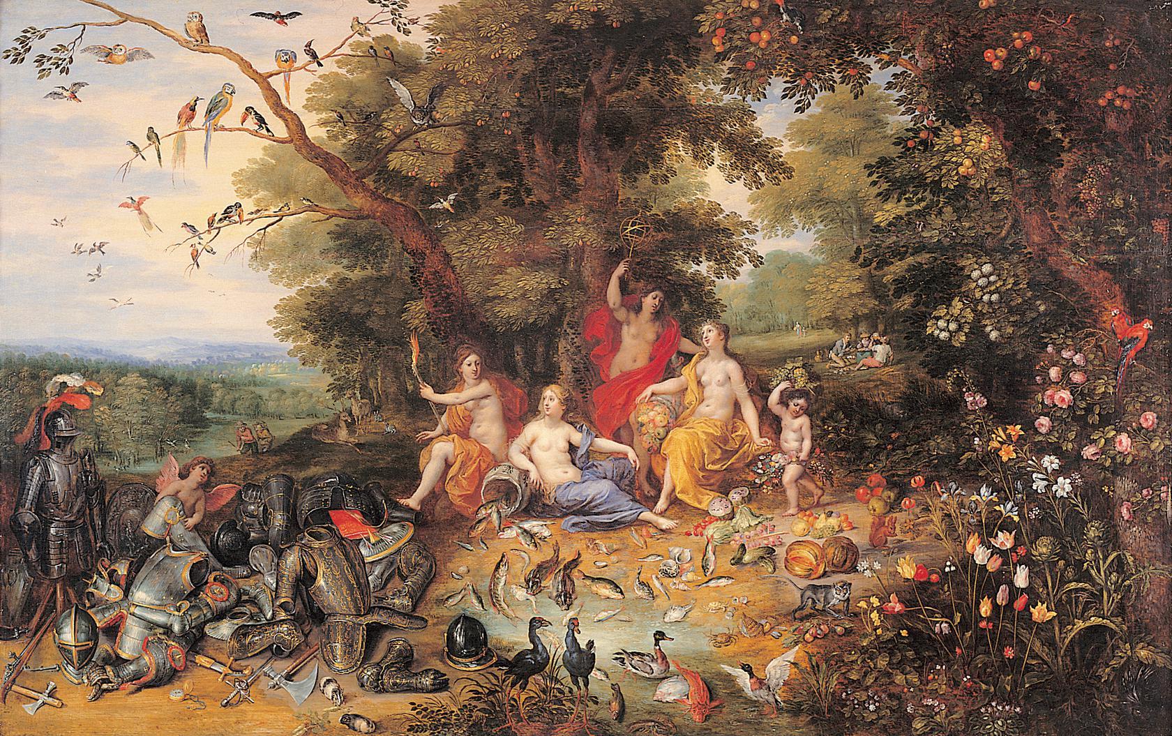 יאן ברויחל הבן והנדריק ואן־באלן, אלגוריה של ארבעת היסודות, 1630 לערך