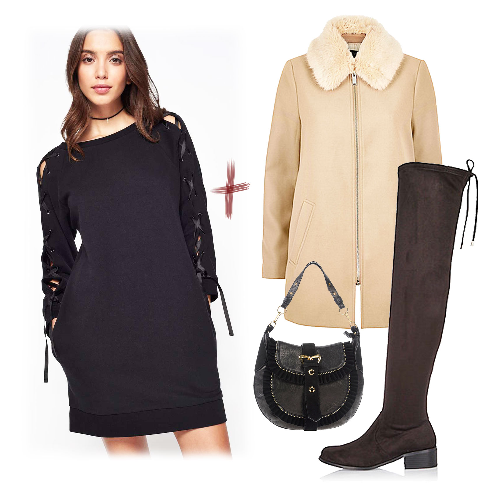 Composition look avec robe pull Miss Selfridge